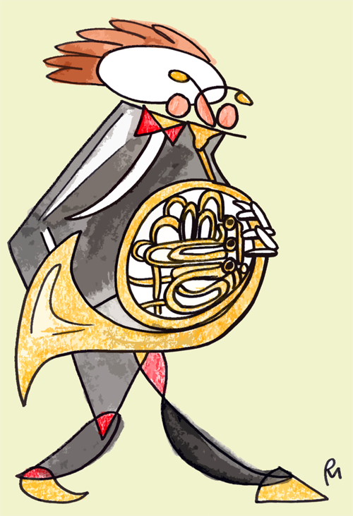 The French Horn Player by polylerus