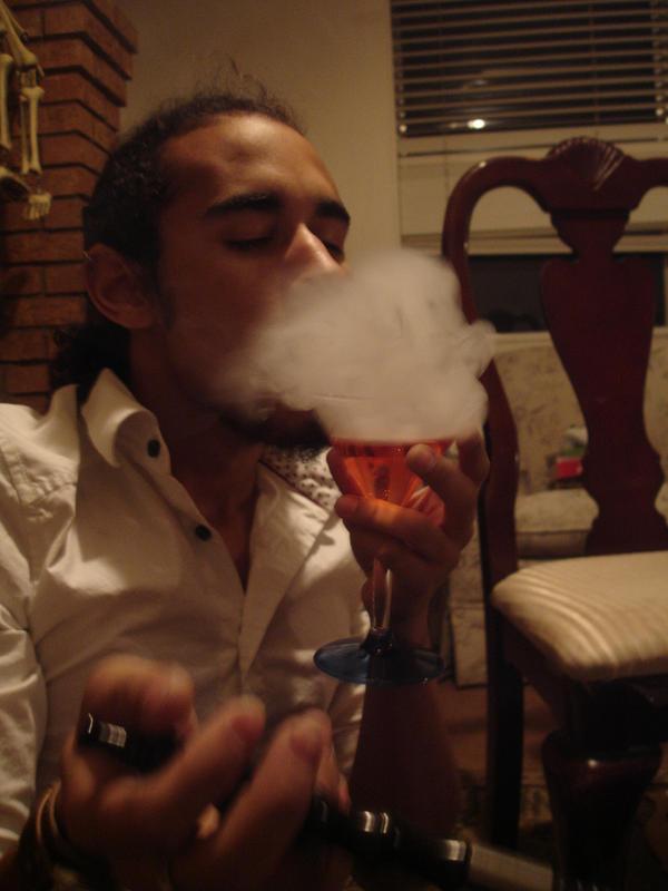 smoke of martini by fourJAYCEE