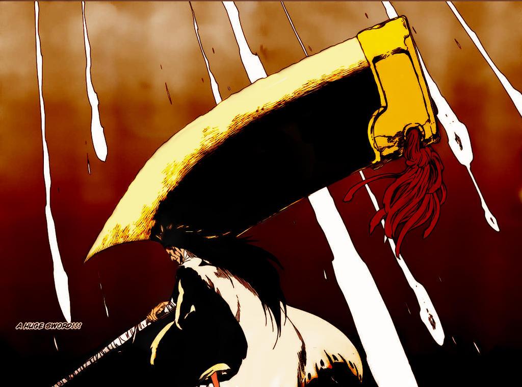 Bleach 577: Zaraki Kenpachi Nozarashi by kiraDaidohji