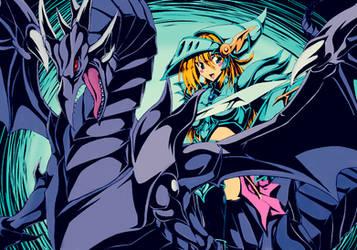 Dark Magician Girl The Dragon Knight by kiraDaidohji