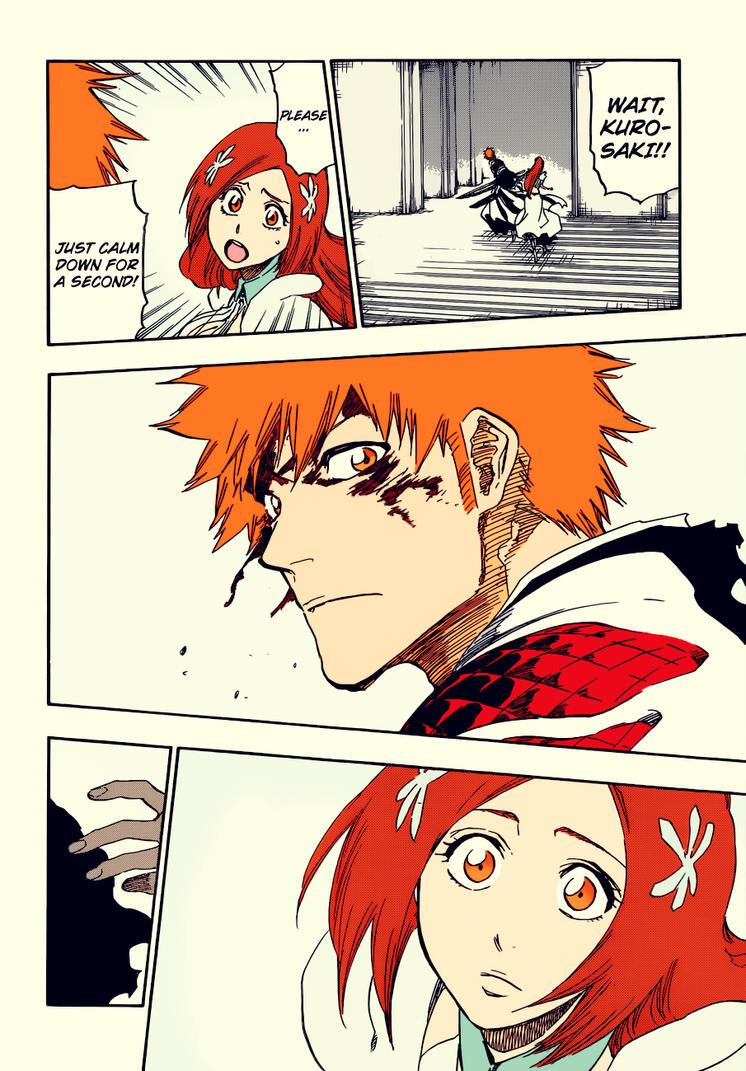 Bleach 675: Ichigo and Orihime by kiraDaidohji
