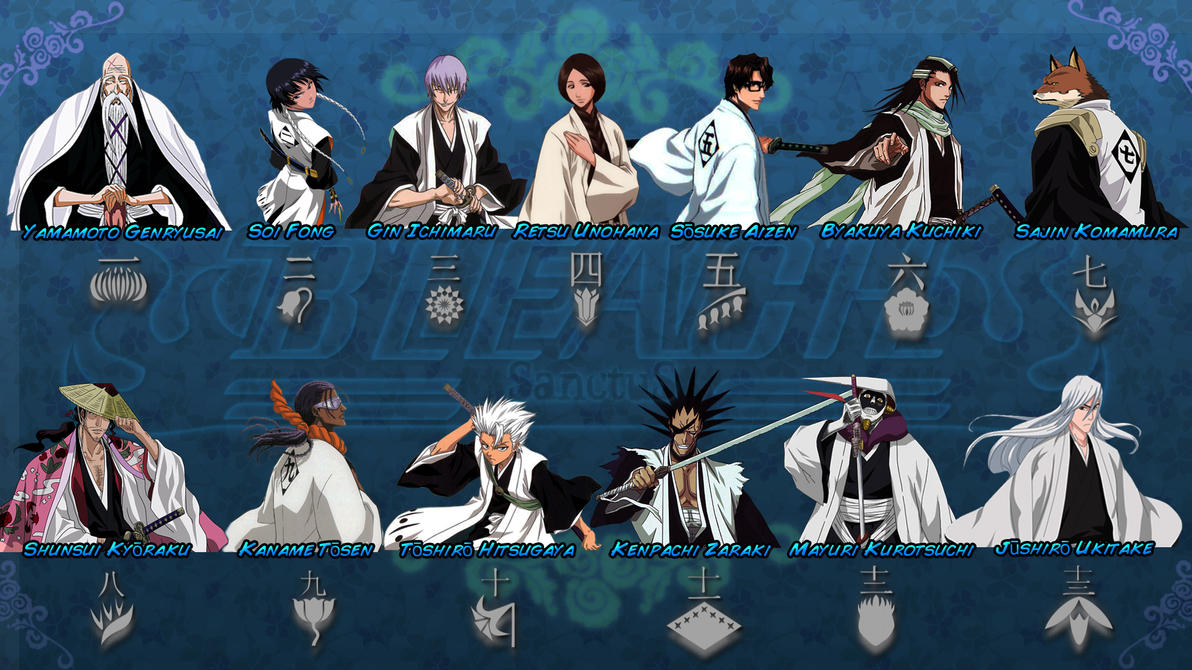 Bleach Captains Full By Sanctusseraph On DeviantArt