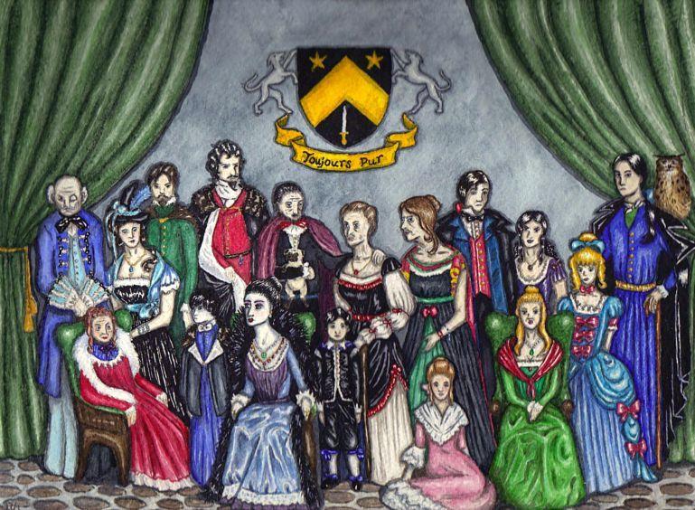 The Black Family, coloured by marodorplanen