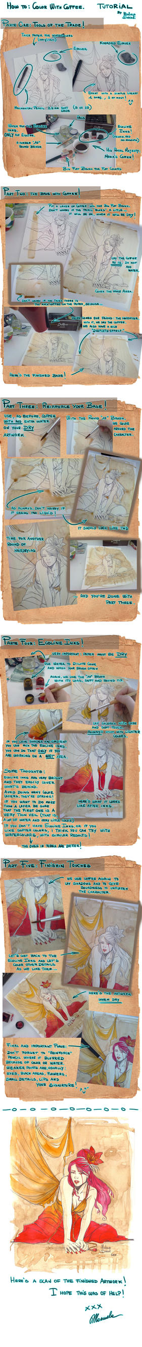 TUTORIAL: coffee painting by ManuelaSoriani
