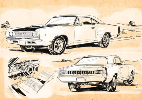 Muscle Car concept art