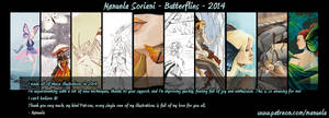 Soriani Butterflies 2014 thanks card SMALL