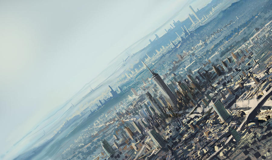 Futurized Los Angeles by rashomike