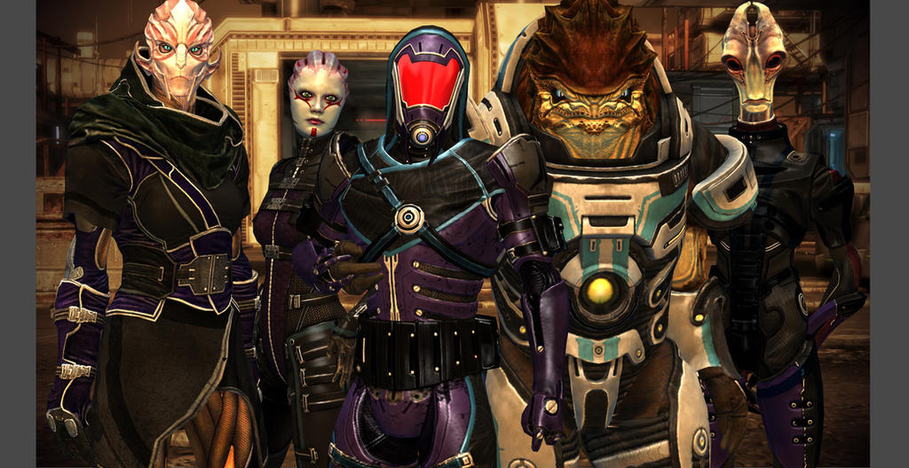 Liara's Shadow-Squad by Wolvengra