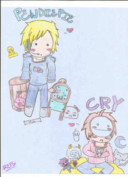 Pewdiepie and Cry Chibis