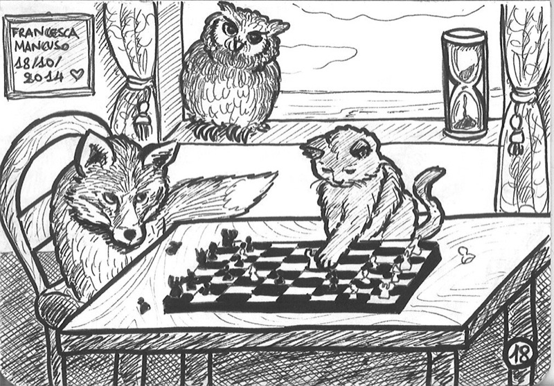 Inktober day 18: The chess tournament by dreamsaddict