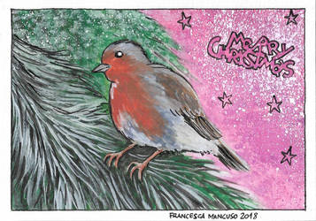 Christmas 2018: Robin by dreamsaddict