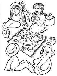 Tea Party - FREE COLOURING BOOK
