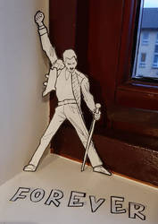 Freddie Mercury, preparatory sketch