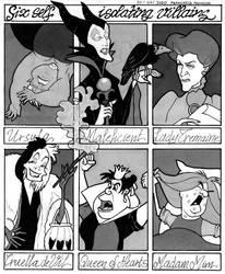 Six self-isolating Disney Villains