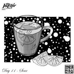 Inktober 2021 - Mugs and Cups - Day 11 - Sour