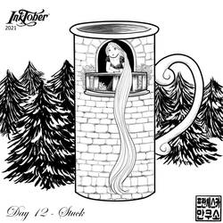 Inktober 2021 - Mugs and Cups - Day 12 - Stuck