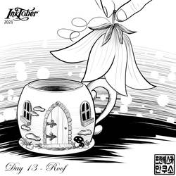 Inktober 2021 - Mugs and Cups - Day 13 - Roof