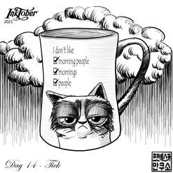 Inktober 2021 - Mugs and Cups - Day 14 - Tick