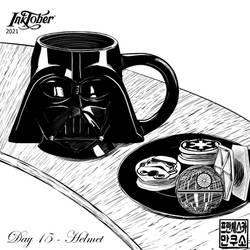Inktober 2021 - Mugs and Cups - Day 15 - Helmet