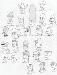 Simpsons Faces