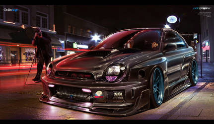 Subaru Impreza Sti EDC Graphic by edcgraphic