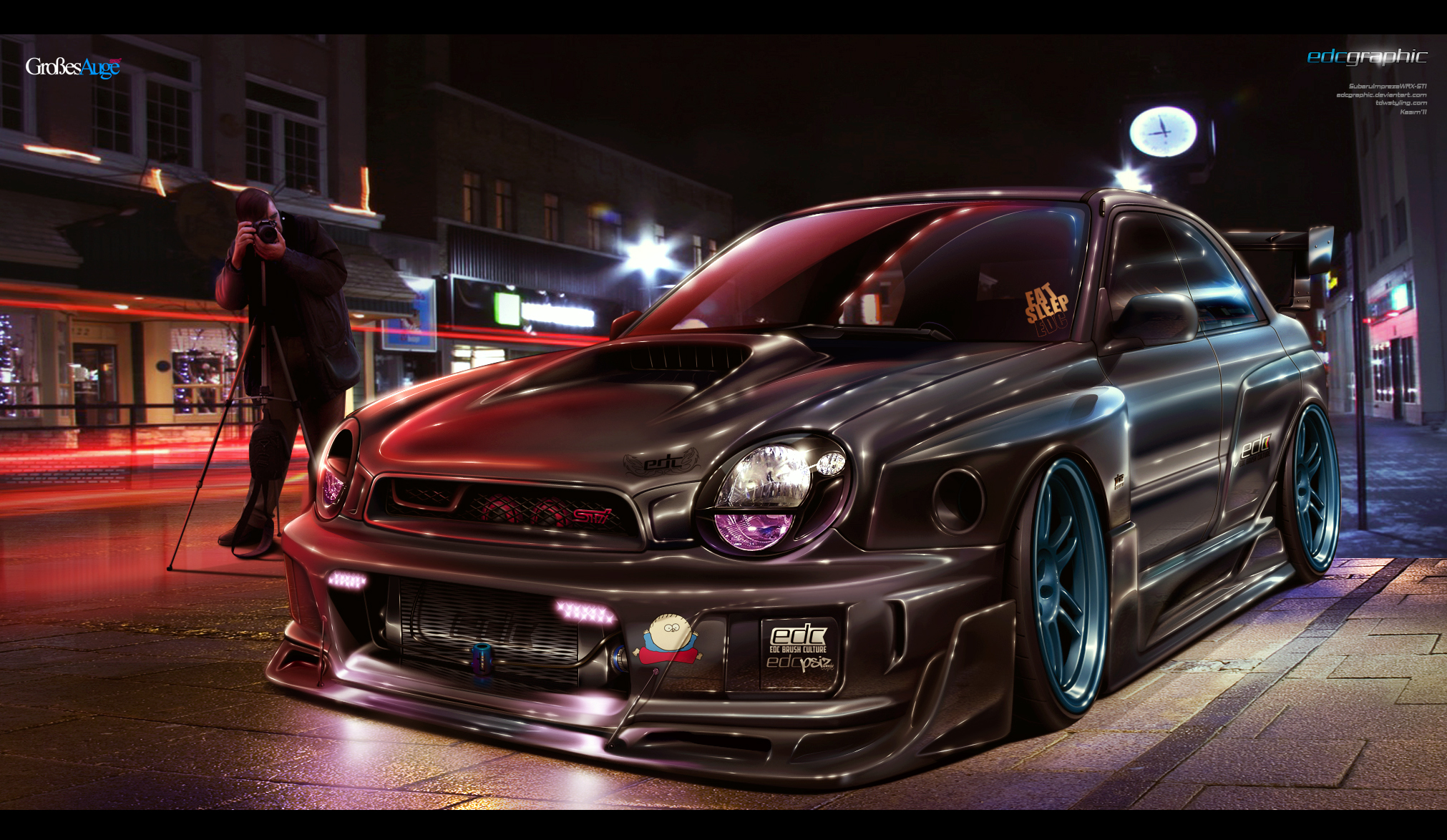Subaru Impreza Sti EDC Graphic by edcgraphic
