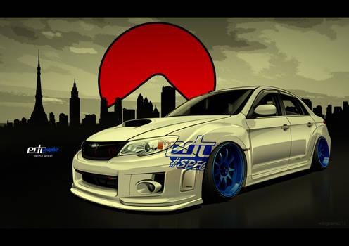 Subaru Impreza WRX STI Vector-edcgraphic