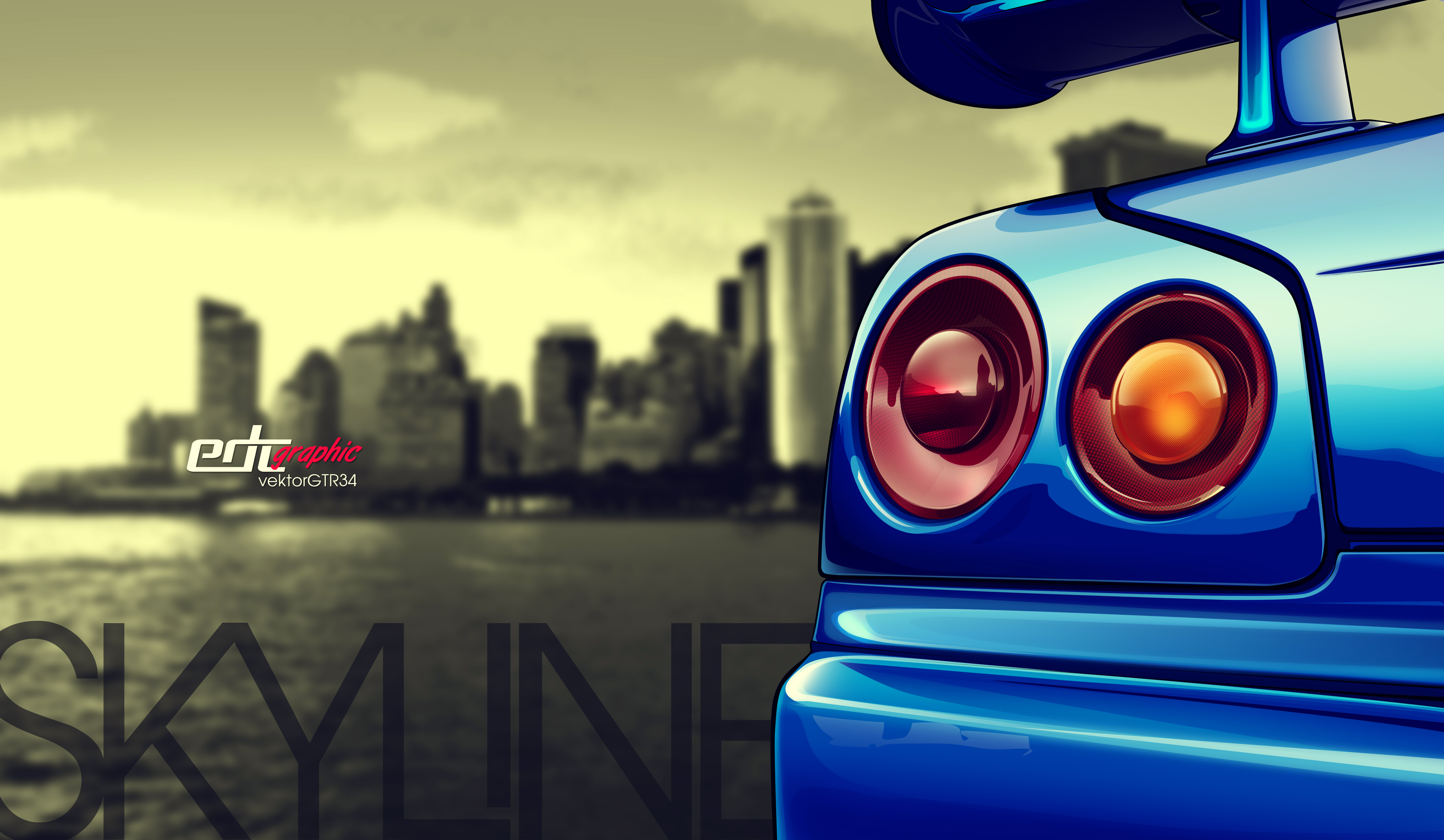 Nissan Skyline Gtr34 Vector Edc Graphic By Edcgraphic On