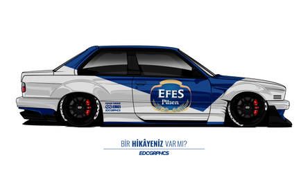 BMW E30 M3 Wide Body #EDCGRPHCS by edcgraphic