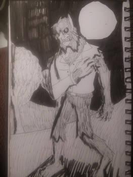 Inktober '19 - Werewolf Transformationn