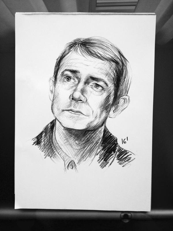 Martin Freeman (Sherlock) by MatyldaSzytula