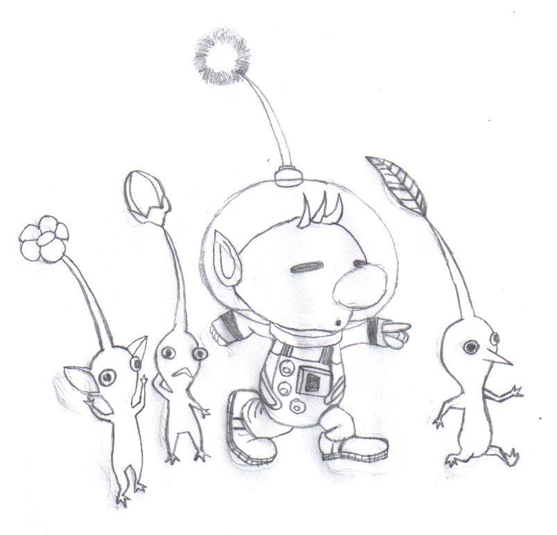 Pikmin louie drawing