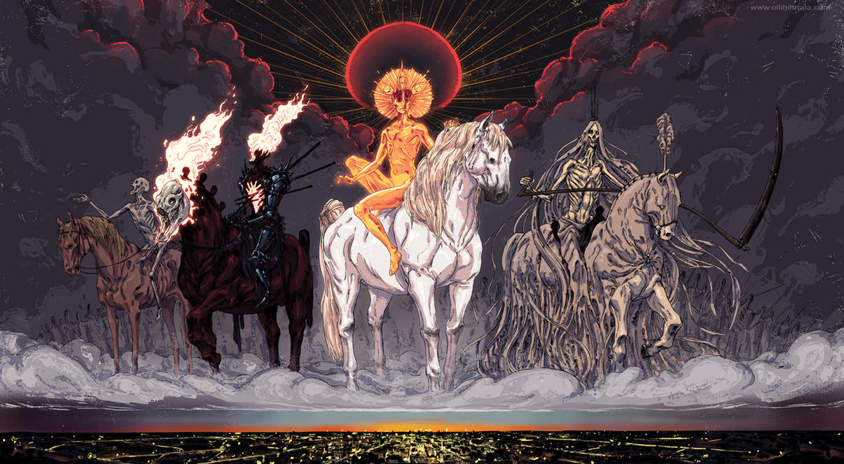 the Four Horsemen of the Apocalypse by korintic