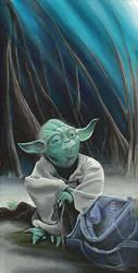 Yoda on Dagobah by acarson333