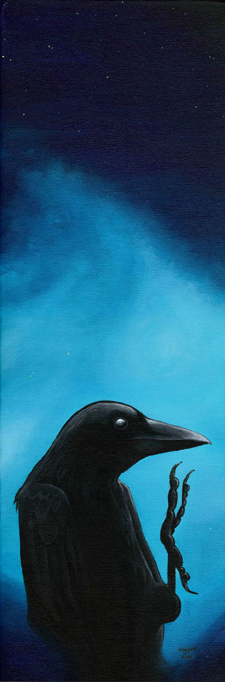 Crow At Evening Time