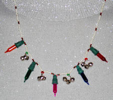 Christmas Light Necklace by jordannamorgan