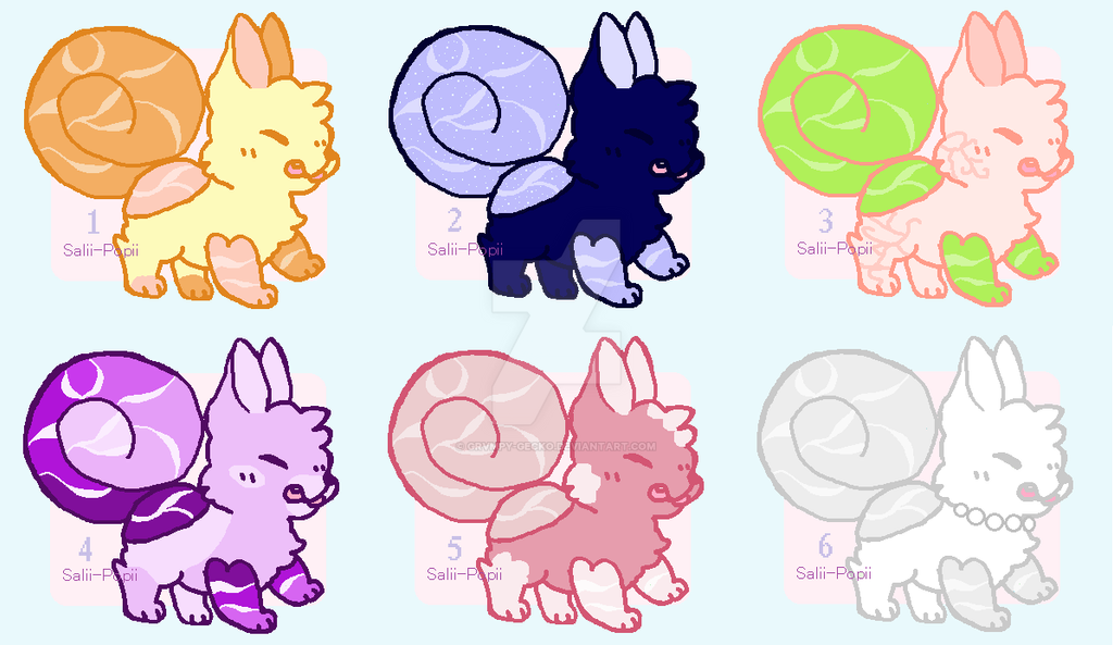 (Closed) Cheap Cinnawater Pup Batch by 0Fuzzygecko0