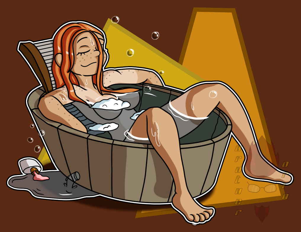 Quickie Art: JJ's Bath Time by Brother-Orin