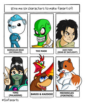 Six Characters Contribution.