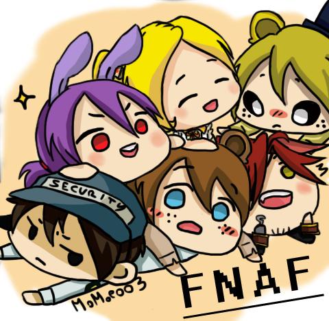 Fnaf gang by Momoe003