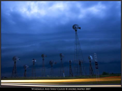 Windmills And Shelf Cloud