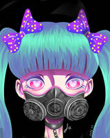 Gas mask by 13SweetBUNNY13