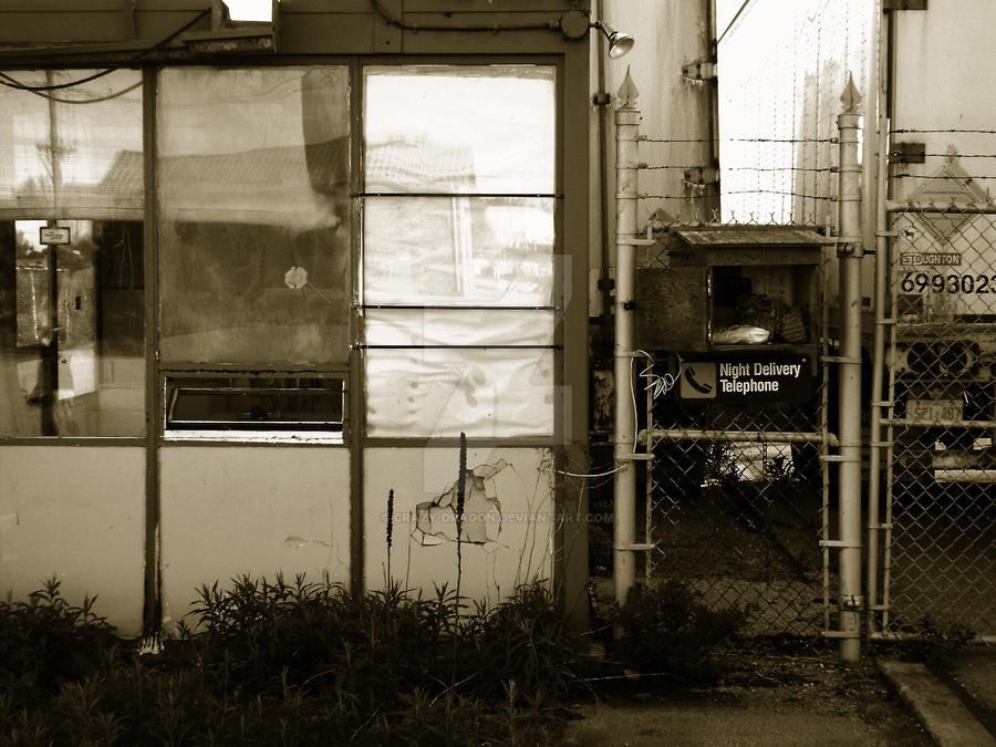 Desolate Factory Entrance by Crazy-Dragon