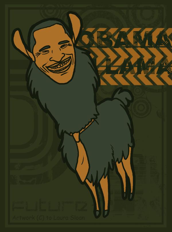 Obama Llama by Crazy-Dragon