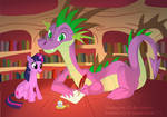 Spike and Twilight Sparkle