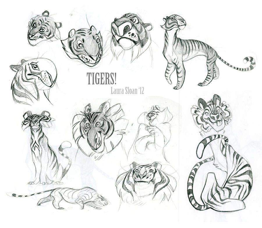 Tigers! by Crazy-Dragon