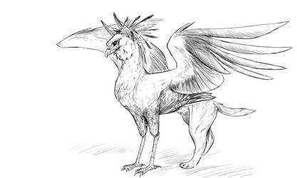 Secretary Gryphon by Crazy-Dragon