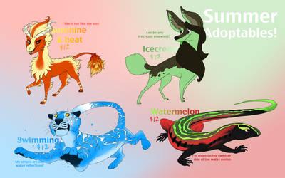 Adoptables Summer 2012 by Crazy-Dragon