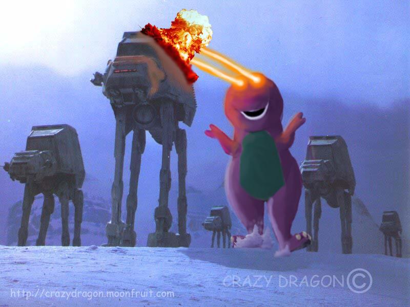 When Barney attacks by Crazy-Dragon