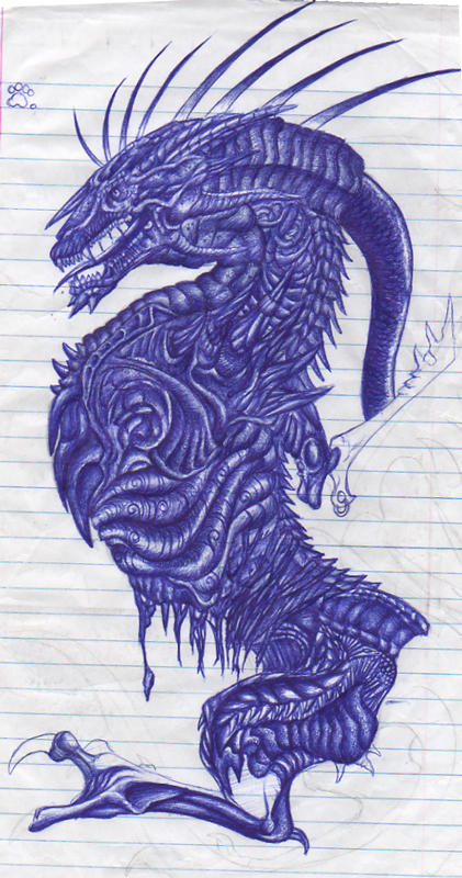 The Dark Side of a Bic Pen by Crazy-Dragon